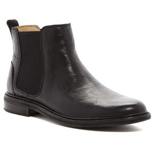Ugg Mens Leif Chelsea Boot Black Pull On Dress 12